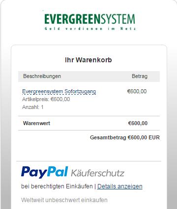 Screenshot Paypal