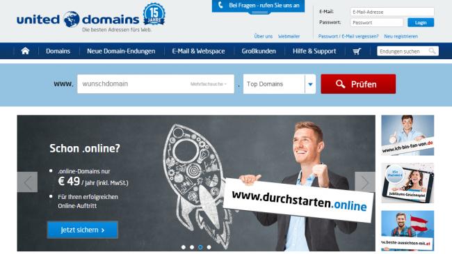 united-domains.de Screenshot