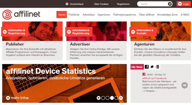 affili.net Screenshot
